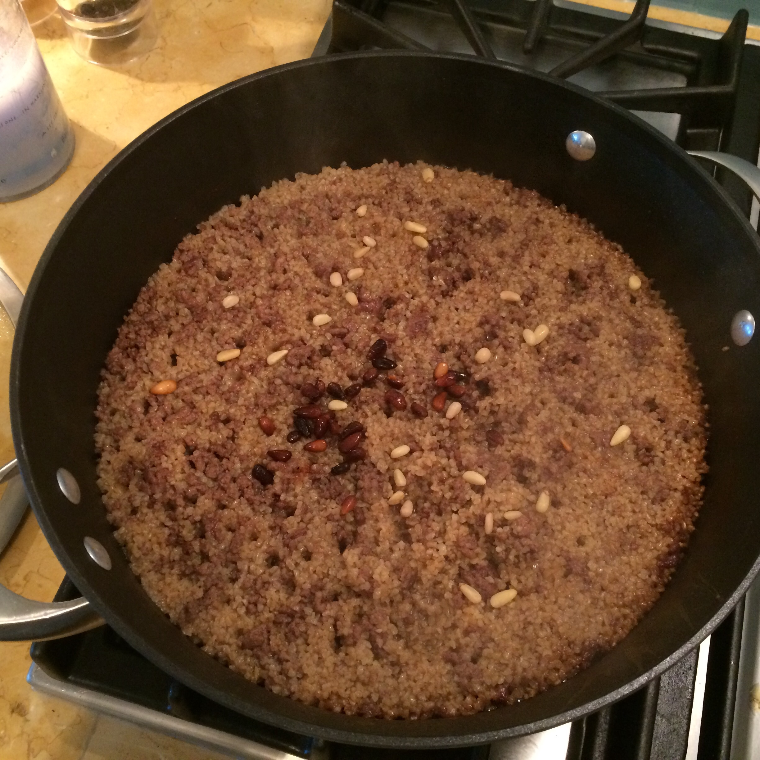 Lamb and Bulgar stuffing