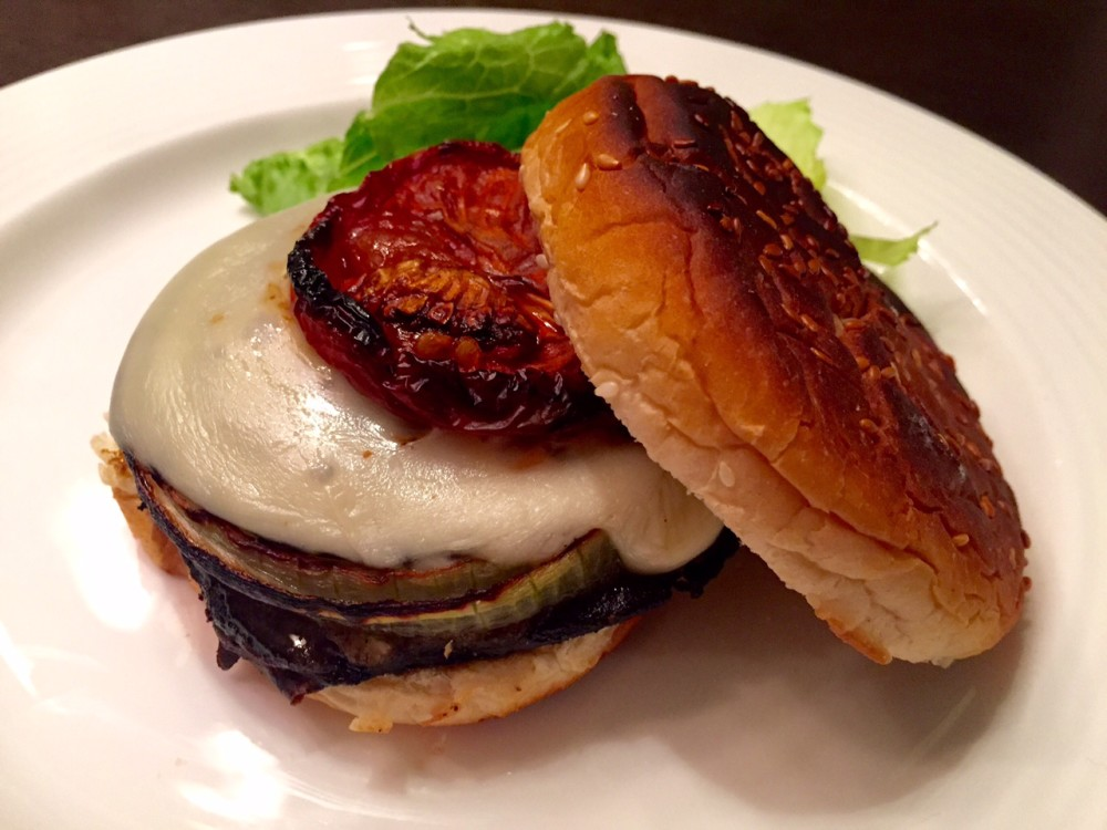 NOT JUST FALAFS | » Portobello Burger with Slow-Roasted Tomato